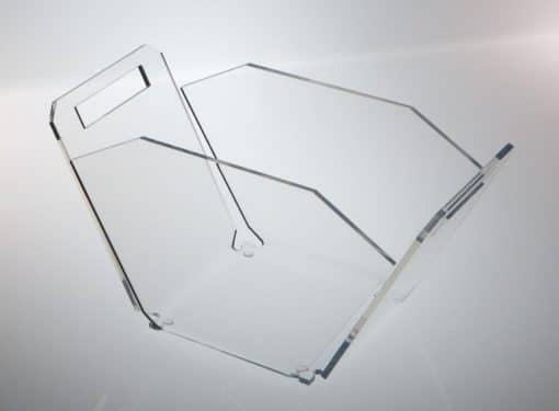 porta piatti in plexiglass