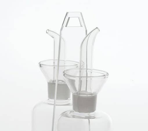Set olio e aceto in plexiglass