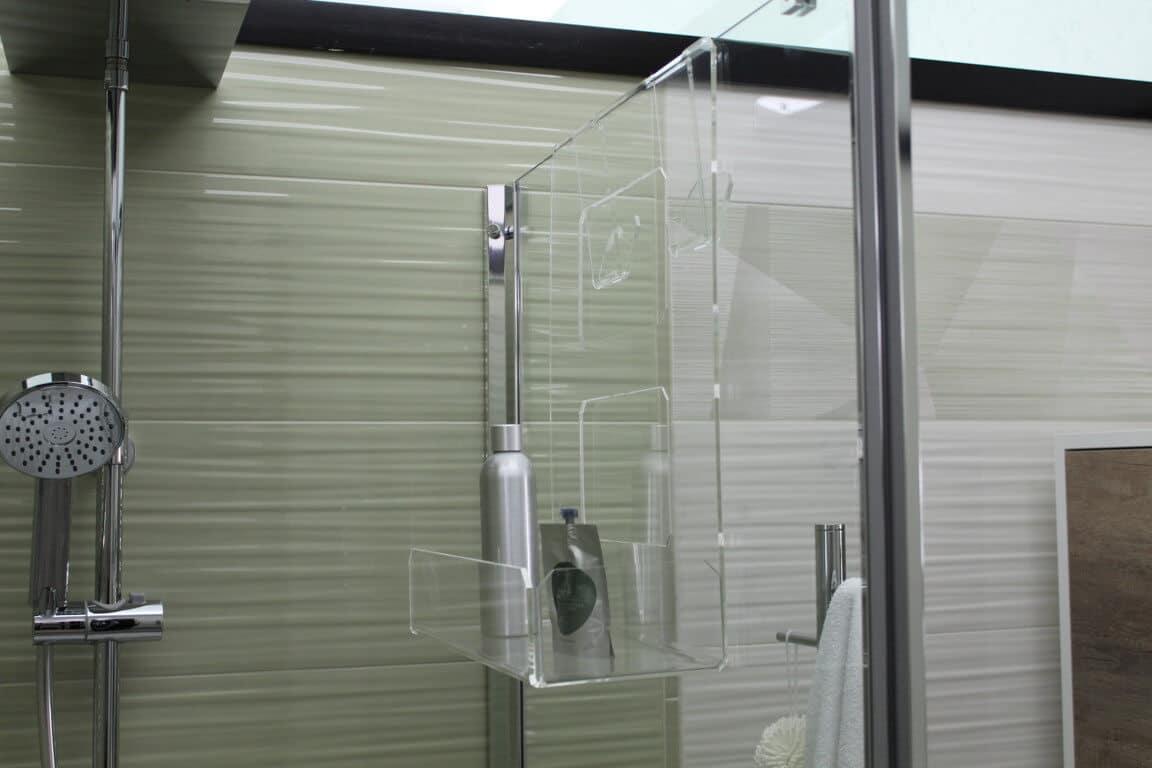 Accessori Bagno In Plexiglass.Portasapone Doccia In Plexiglass Con 2 Porta Asciugamani Mensola Per Doccia Agplex