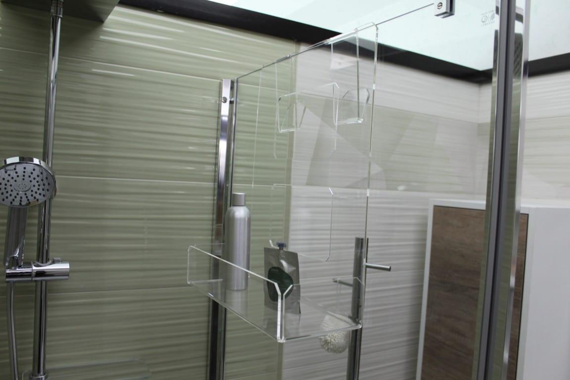 Accessori Portasapone Per Doccia.Portasapone Doccia In Plexiglass Con 2 Porta Asciugamani Mensola Per Doccia Agplex