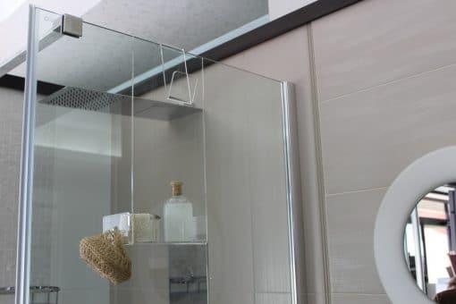 Mensola doccia trasparente