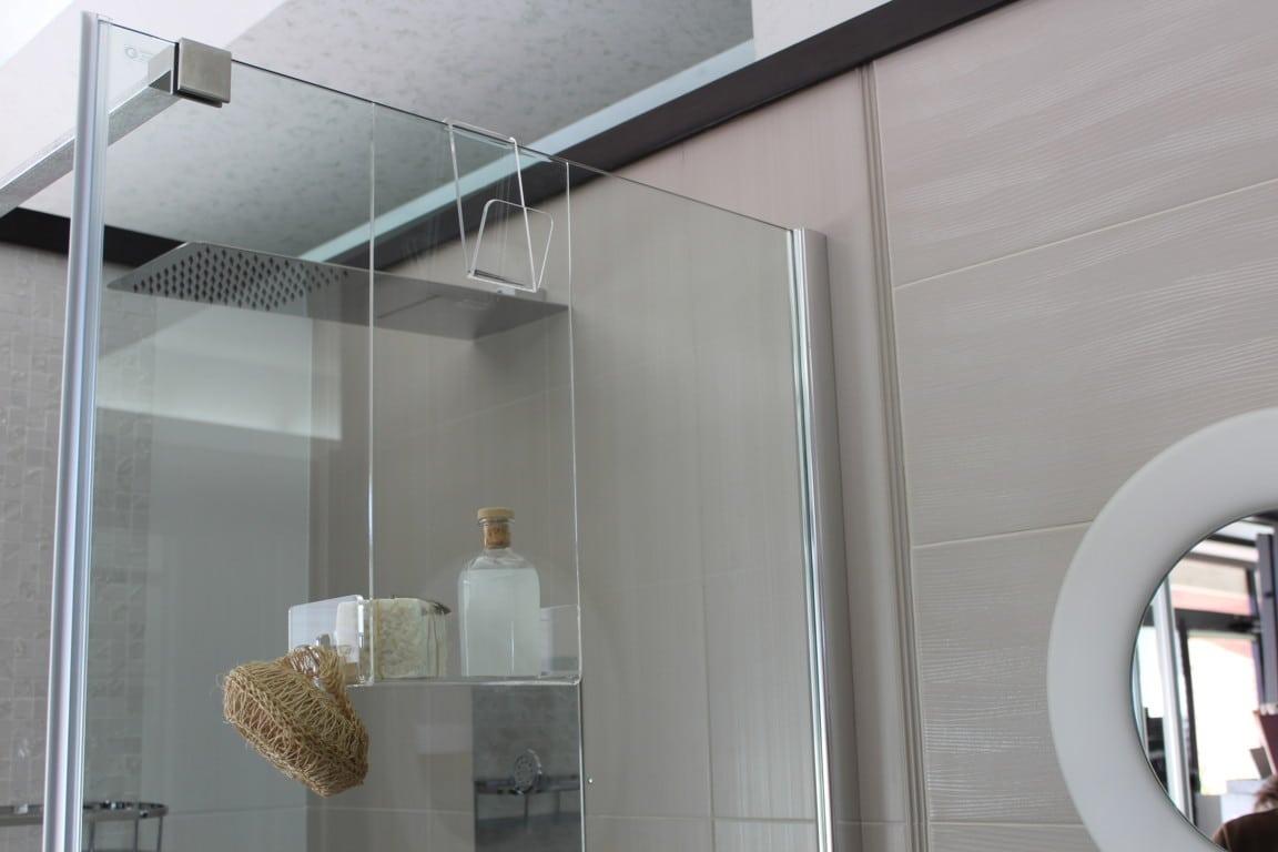 Portasapone mensola doccia in plexiglass con porta