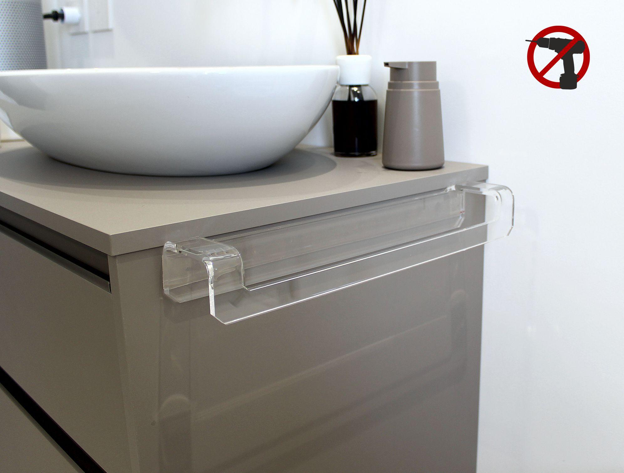 Asciugamani Per Il Bagno.Portasciugamani Autoadesivo Per Bagno In Plexiglass